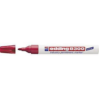 Edding edding 8300 industry permanent marker 4-8300002 Permanent marker Red waterproof: Yes