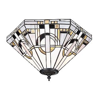 Interiors 1900 Metropolitan 2 Light Flush Ceiling Fitting With M