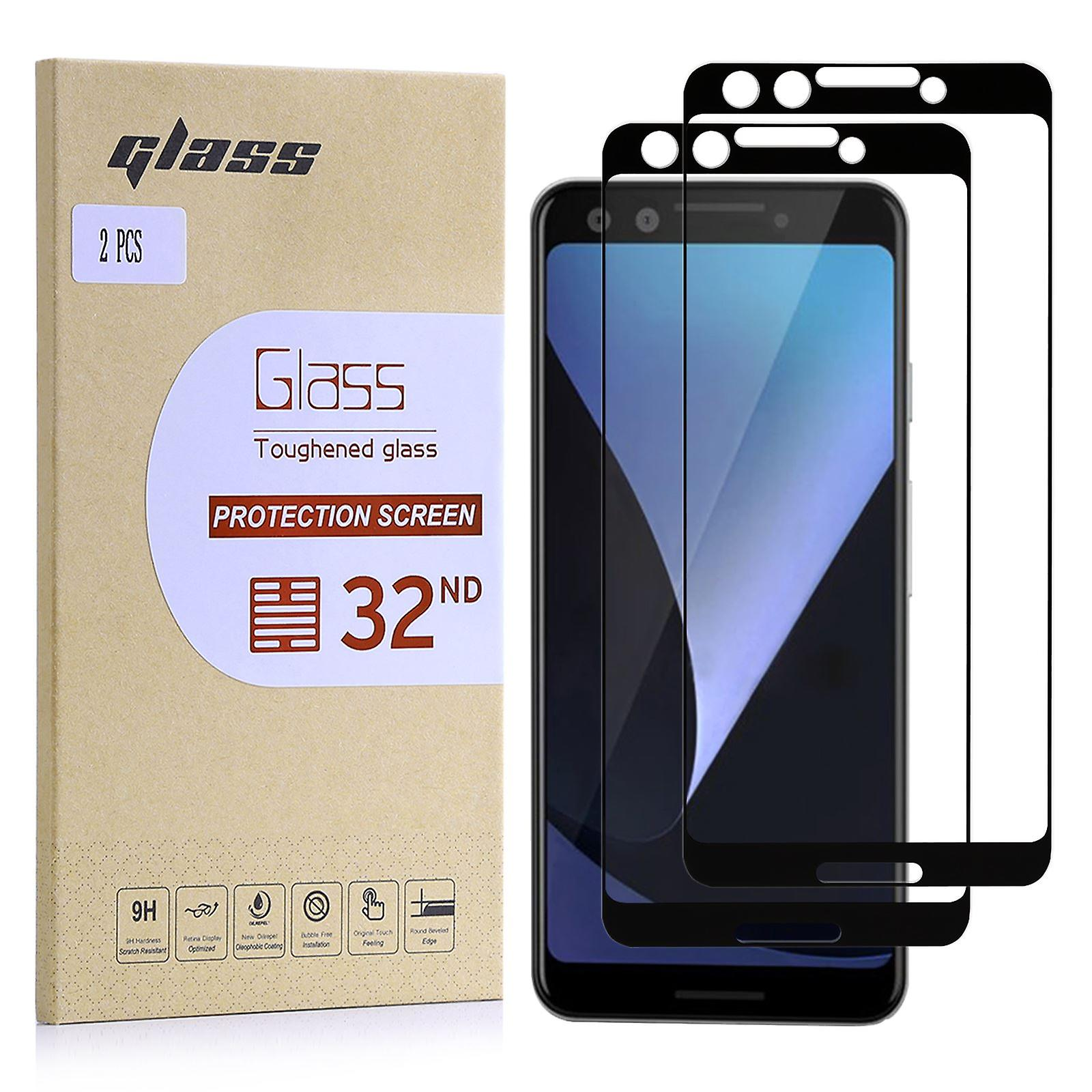Extra Armoured Tempered Glass for Google Pixel 3 (Black Border) - 2 Pack