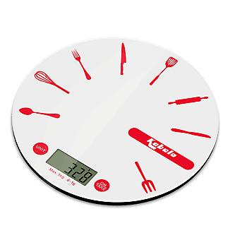 Kabalo Kitchen Household Food Cooking Weighing Scale 5kg capacity 5000g/1g, Batteries Included! Flat Slim Design, Premier LCD Digital Electronic