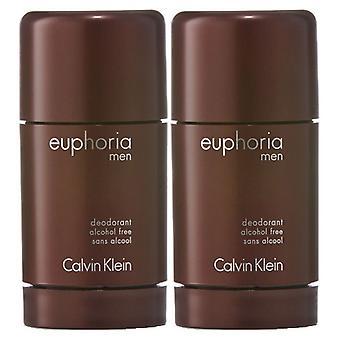 2 pacchetti Calvin Klein Euphoria Per Uomini Deostick 75ml