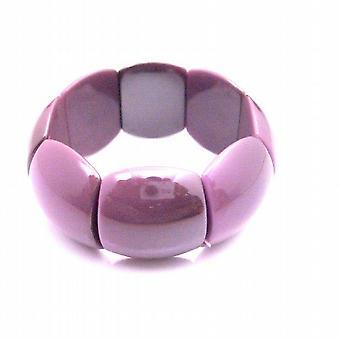 Viola perline bracciale estensibile ragazze indossando divertente estate gioielli