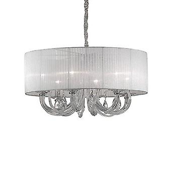 Ideal Lux - cygne Chrome et verre Six pendentif lumineux IDL035826