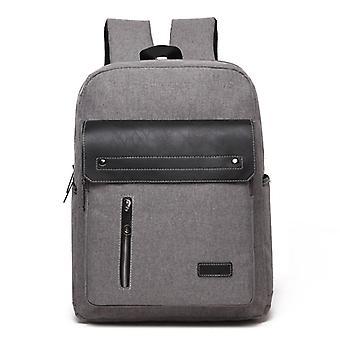 Cómoda mochila con detalles de piel sintética-gris