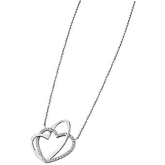 Necklace and pendant Lotus Style LP1285-1-1 - collar and silver rhinestone Chic woman heart pendant