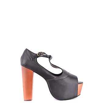 Jeffrey Campbell Ezbc132033 Dames's Black Leather Sandalen