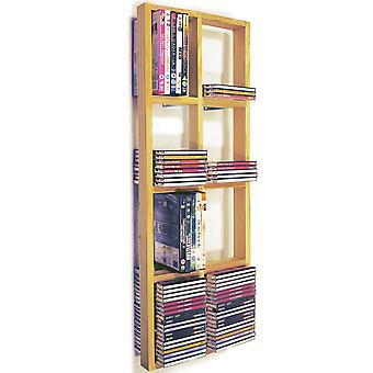 Iris - doble pared Cd 152 / 64 Dvd / Blu Ray almacenamiento marco estante - Natural