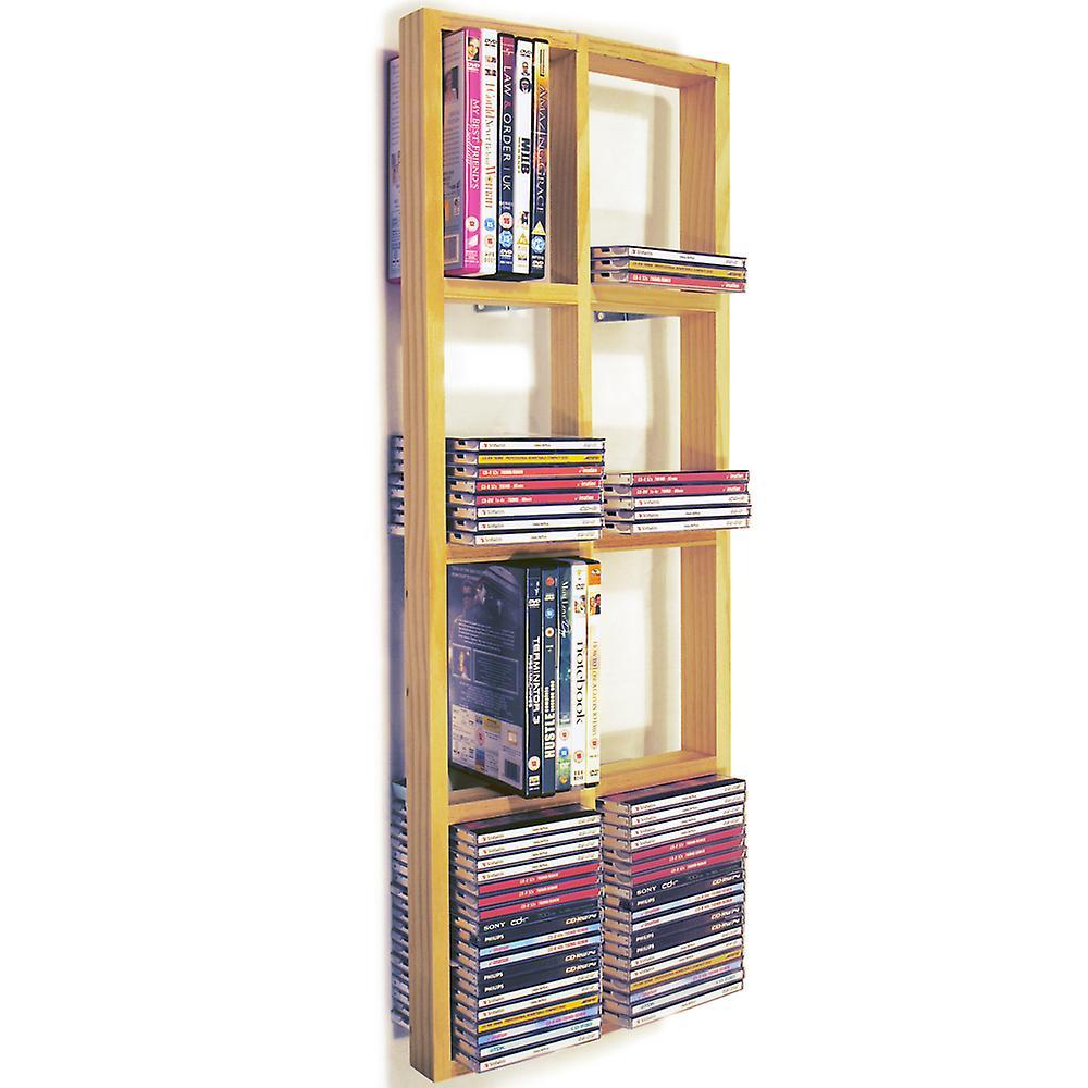 Kanon Iris - dubbel vägg 152 Cd / 64 Dvd / Blu Ray lagring ram hylla WY-75