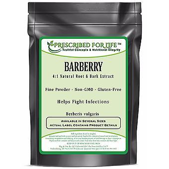 Barberry - 4:1 Natural Root & Bark Extract Powder (Berberis vulgaris)