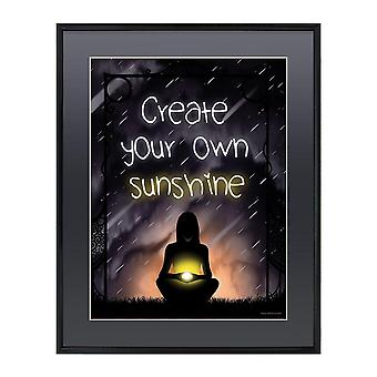 Grindstore gloss skabe din egen solskin indrammet mini plakat