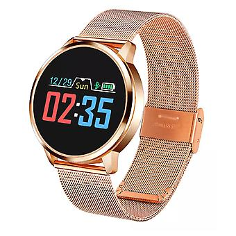 Stuff Certified® Original Q8 Smartband Sport Smartwatch Smartphone Watch OLED iOS Android Gold Metal