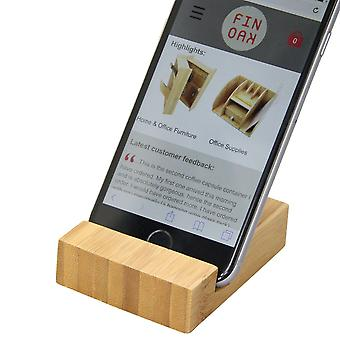 Woodquail Bamboo Mobile Phone Stand Business Card Holder
