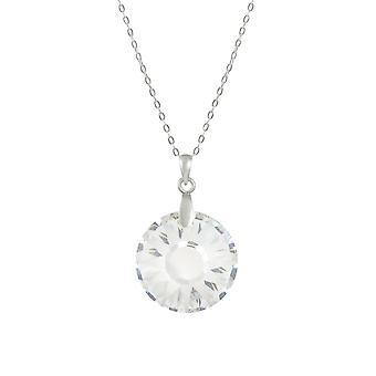 Evig samling Solar Clear østerrikske Crystal Sterling sølv anheng