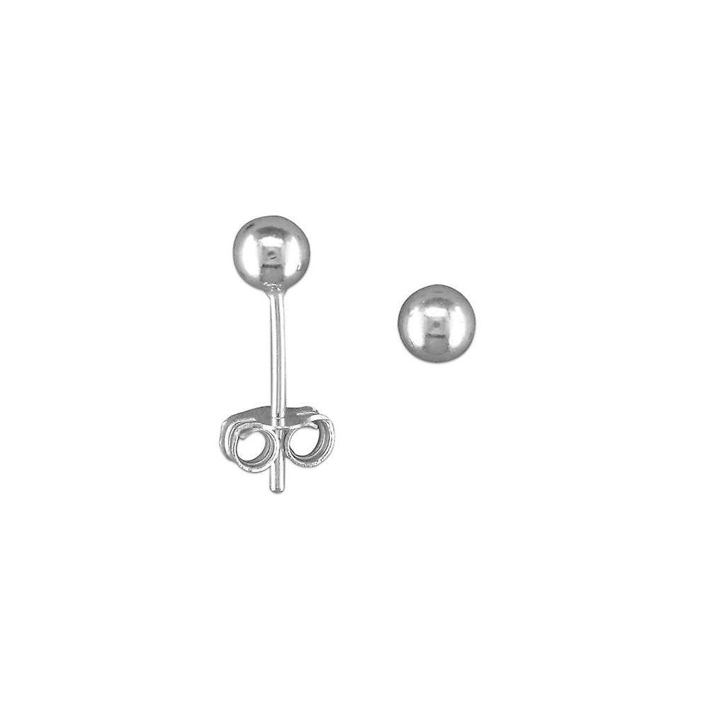 Eternity Sterling Silver 4mm Ball Stud Earrings