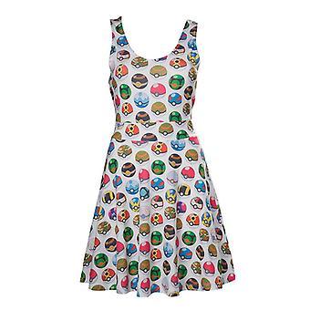 Pokemon Pokeball hele Print Skater jurk L Size - grijs (FD270622POK-L)