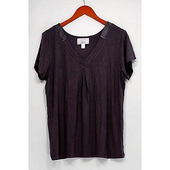 Carole hochman vrouwen ' s Nachthemd modal spandex satijn bruin A292529
