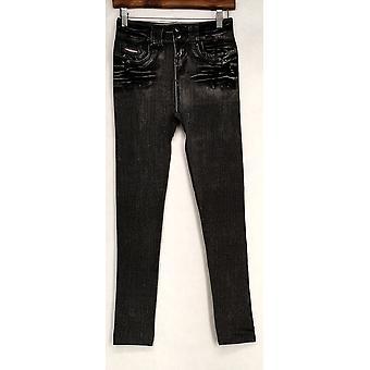 Slim 'N Lift Leggings L/XL Caresse Jeggings Ankle Length Black C415986