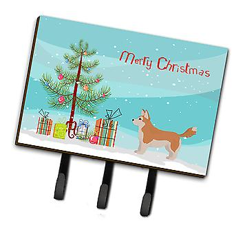 Corgi Husky Mix Christmas Tree Leash or Key Holder