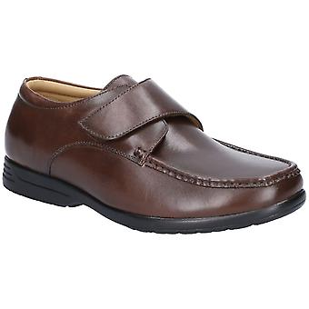 Fleet & Foster Mens Fred Dual Fit Moccasin Brown