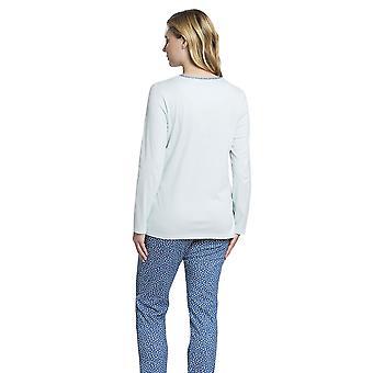 Rösch 1193655-16554 Women's Smart Casual Glacier Blue Spotted Drops Cotton Pyjama Set
