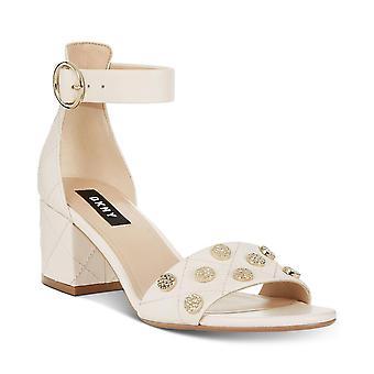 DKNY Damen Henli Leder zehenoffenen lässige Ankle Strap Sandalen