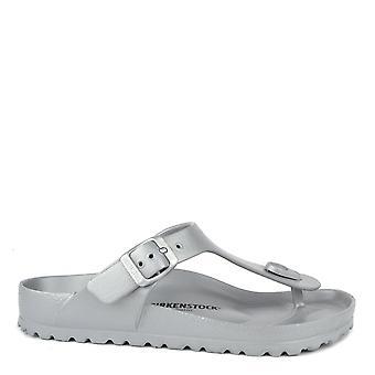 Birkenstock Gizeh Silver Rubber Thong Sandal