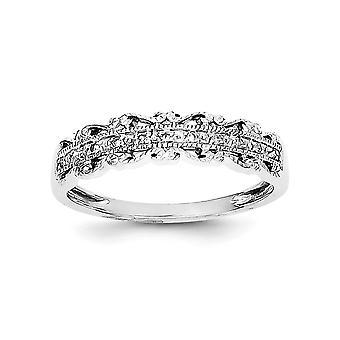 925 Sterling Gümüş Cilalı Rodyum kaplama Diamond Band Ring Takı Hediyeler Kadınlar için - Yüzük Boyutu: 6-8