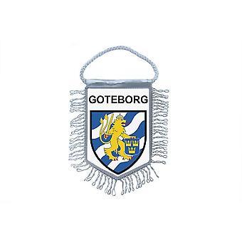 Fanion Mini Drapeau Pays Voiture Decoration Souvenir Blason Goteborg Suede