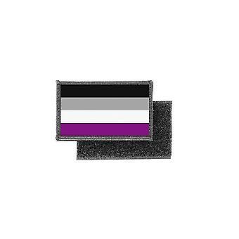 Patch Ecusson tulostaa asexuaseksuaali lippu rinta nappi, LGBT