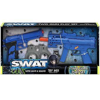 Swat Two Gun Playset With Light & Sound