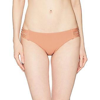 Body Glove Women's Ruby Low Rise Multi Strap Bikini Bottom, Orange, Size Large