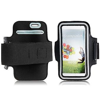 Galaxy S4 Nylon Sport flexible Armband Fall schwarz