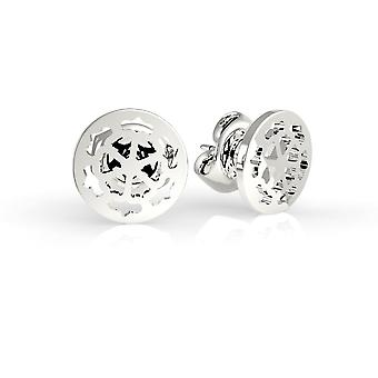 Guess Jewellery Greek Peony Stud Silver Earrings UBE29075