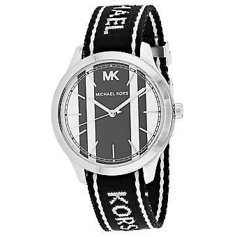 Michael Kors Frauen's Runway Nato Weiß und Schwarz Zifferblatt Uhr - MK2795