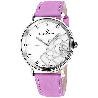 Christian Van Sant Frauen's Fleur White MOP Zifferblatt Uhr - CV2213