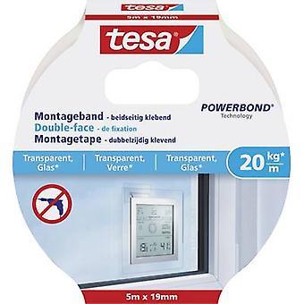 tesa GLASS 77741-00000-00 Industrial tape tesa® Powerbond Transparent (L x W) 5 m x 19 mm 1 pc(s)