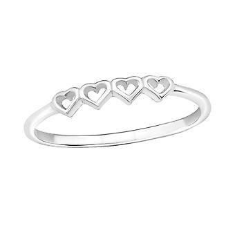 Сердца - 925 стерлингового серебра Обычная кольцо - W18904x