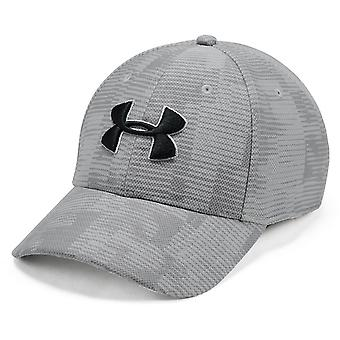 Under Armour Printed Blitzing 3.0 Mens Stretch Fit Baseball Cap Hat Grey