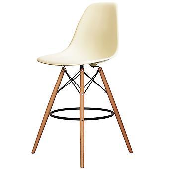 Charles Eames tyyli vanilja muovi Baari jakkara