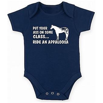 Body neonato blu navy fun3308 ride appaloosa