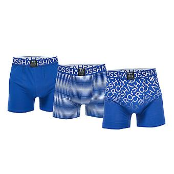 Mens Crosshatch Black Label Formbee 3 Pack Boxer Shorts In Blue- 3 Pairs Blue- 1