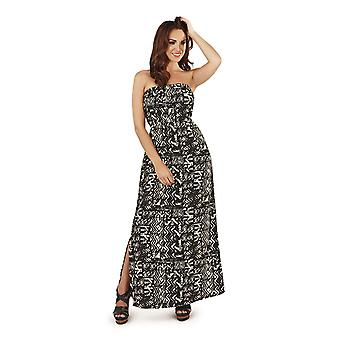 Pistachio Women's Aztec Print Long Bandeau Maxi Summer Dress