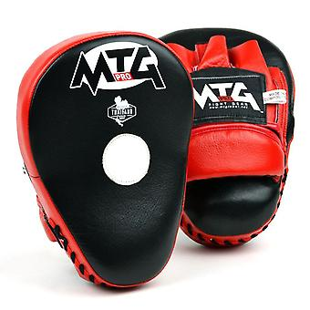 Mtg pro curved focus mitts - red