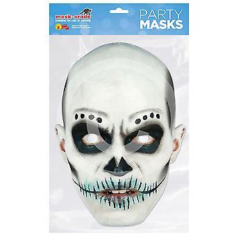 Tag der Toten Karte Maske Skull