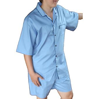 Mens JOCKEY Korte pyjama's nachtkleding pyjama 50040-Sky Blue-Small 34-36
