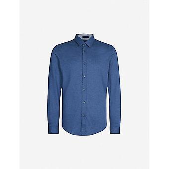Hugo Boss Lukas_53 regular fit pitkähihainen sininen paita