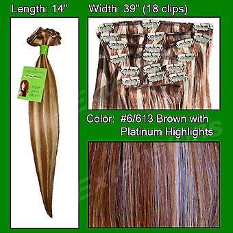 #6/613 Chestnut Brown w/Platinum Koho kohtia-14 tuumaa