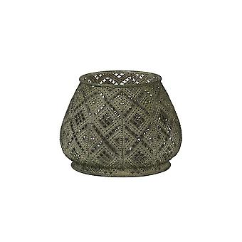 Licht en levend theelicht 16,5x12,5 cm - Mawar Antiek groen