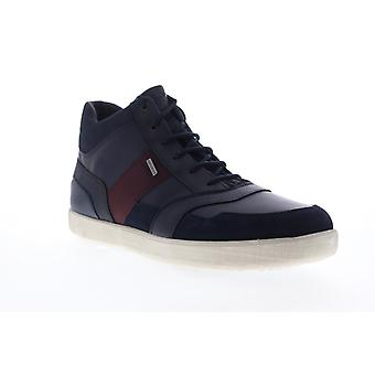 Geox U Taiki B ABX  Mens Blue Leather High Top Sneakers Shoes