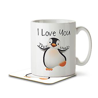 I Love You This Much - Cute Penguin - Mug and Coaster
